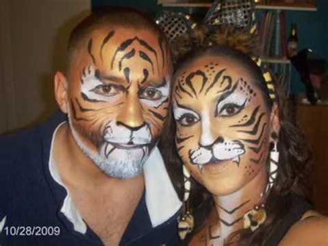 Halloween Tigers - YouTube Realistic Tiger Makeup
