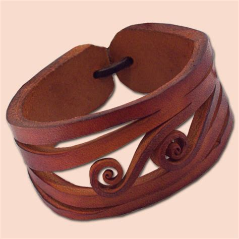 Leather Handmade Bracelets - handmade leather bracelet 4045 orange brown flickr