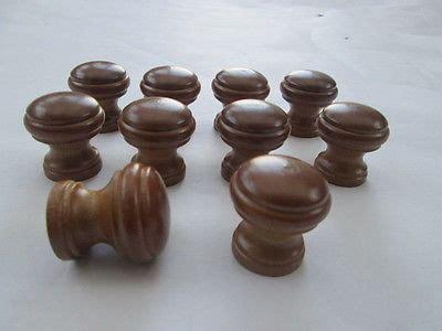 wooden kitchen cabinet knobs 10 x brown beech wooden round cupboard cabinet drawer