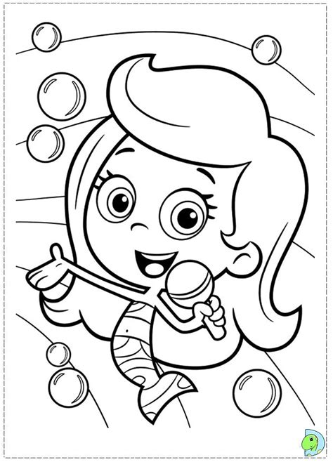 bubble guppies coloring page dinokids org
