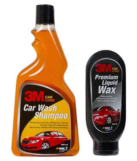 3m Car Care Premium Wax 350ml 3m car wash shoo with 3m premium liquid wax microfibre cloth available at snapdeal for rs 639