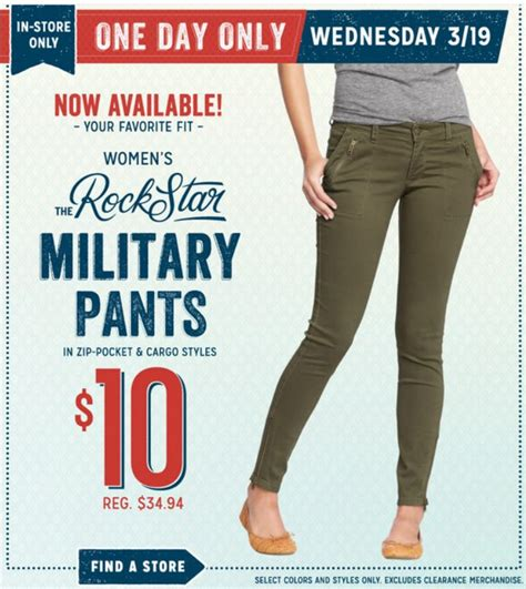 old navy coupons military 10 women s military pants at old navy today only