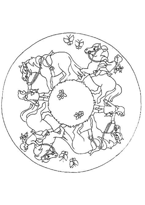 Coloriage Mandala Cheval Cavalier Sur Hugolescargot Com