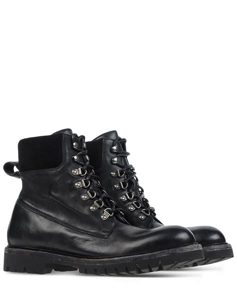 dolce and gabbana boots mens dolce gabbana lace up leather ankle boots in black for