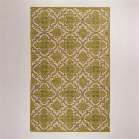 Rug World Market by 5 X8 Green Arabesque Jute And Cotton Rug World Market