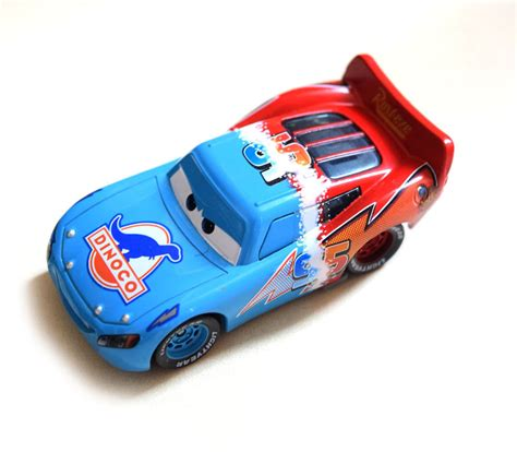 lighting mcqueen toys disney pixar cars diecast dinoco to rust eze