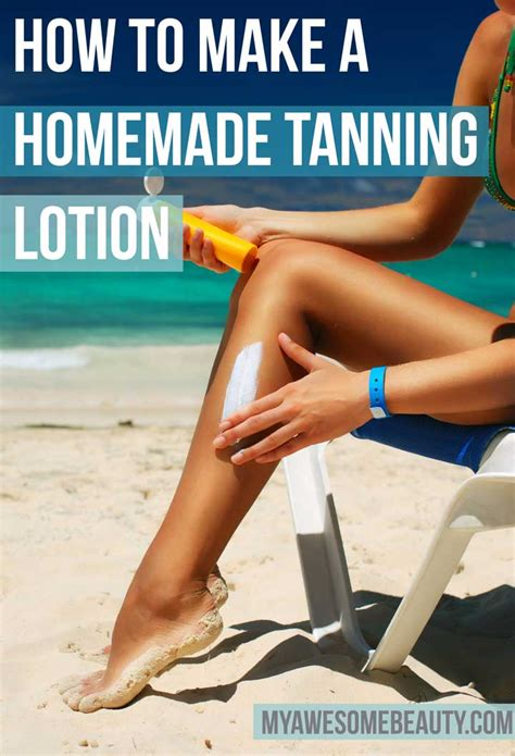 diy tanning how to make your own tanning lotion in easy steps