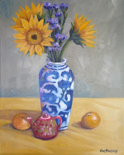 Vase Painters by Sunflowers In Vase Paint Roe Murray