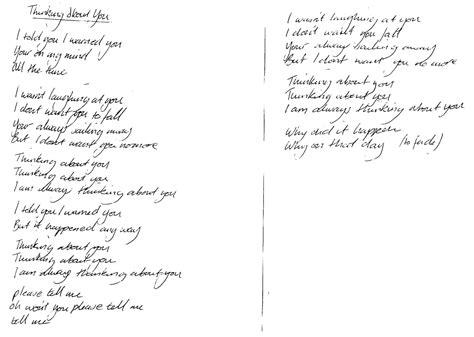 thinking about you testo altered images bite lp lyrics