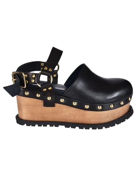 platform clog sandals sacai luck sacai luck buckled platform clog sandals