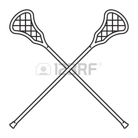 Stick Clip Free by Crossed Lacrosse Sticks Clipart Collection