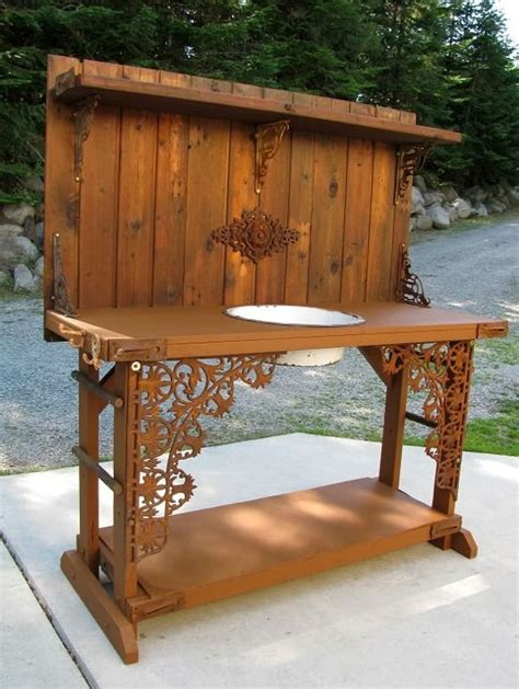 garden work bench with sink creative diy potting bench wallace gardens or use as