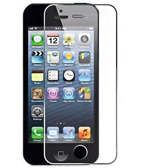 Tempered Glass For Iphone Iphone 44s56 Front Back iphone 4 front and back tempered glass screen guard by