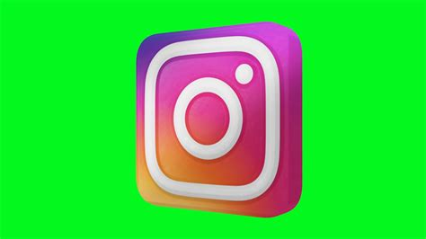 Instagram Logo 1 instagram new logo green screen animated 3d
