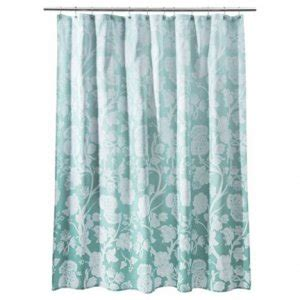 blue ombre shower curtain target home blue ombre floral fabric shower curtain aqua
