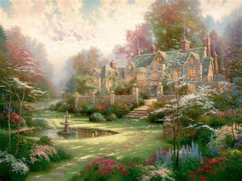 kinkade prints on canvas painting print