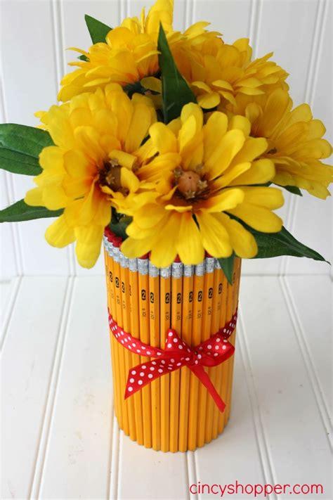 Centerpieces Vase Diy Teacher Gift Pencil Vase Cincyshopper