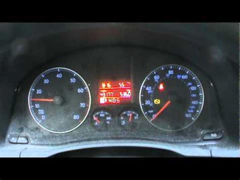 Volkswagen Jetta Dashboard Symbols by 2009 Volkswagen Jetta Dash Cold Start