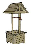 wood pattern for wishing well free wishing well plans woodworking plans and information
