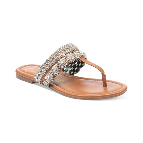 jeweled sandals roelle jeweled sandals in white