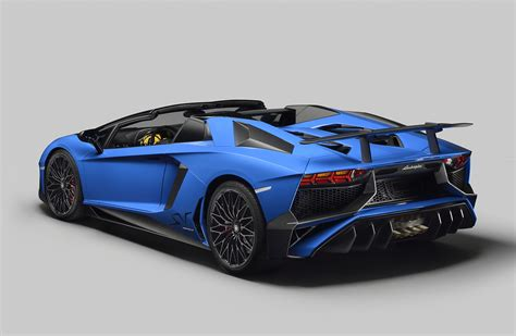lamborghini aventador sv roadster blue 2016 lamborghini aventador lp 750 4 superveloce roadster rear photo blue color size 2048 x