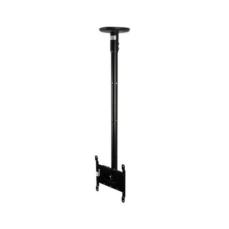 b tech flat screen tv ceiling mount 0 75m pole black