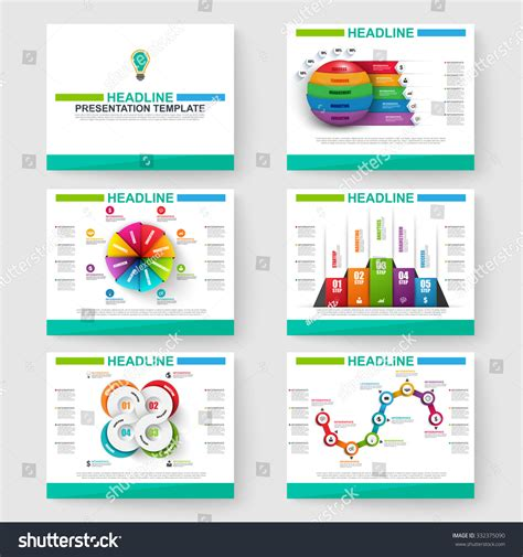 set multipurpose presentation infographic templates