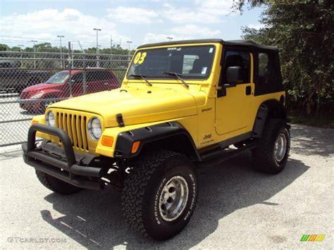 Jeep Yellow 2003 Solar Yellow Jeep Wrangler Sport 4x4 33329397