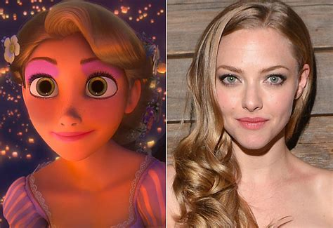 amanda seyfried tangled celebrities who look like disney characters popsugar