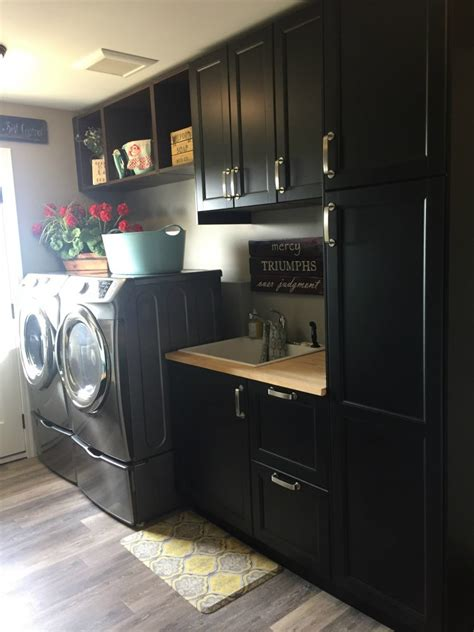 How To Design A Laundry Room And Bathroom With Ikea Ikea Cabinets Laundry Room