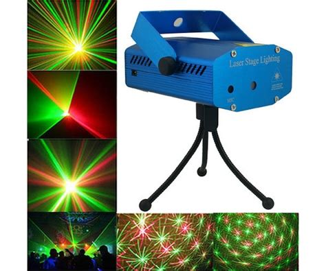 Mini Laser Stage Light Multicolor Projector 6 Pattern Mgy 006 1 virat multi pattern sound activated laser mini disco light projector stage lighting for