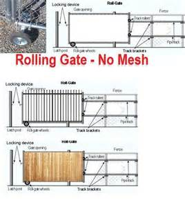 glamorous vinyl fence rolling gate for fence gate