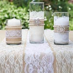 Decorative Pearls For Vases Burlap Pearls Brooches Amp Lace Vase Accents Wedding