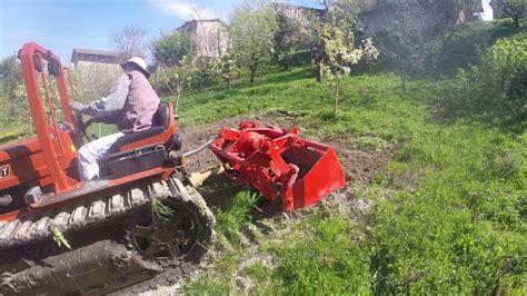 valverde pavia preparazione terreno con fiat 505c e vangatrice gramegna a