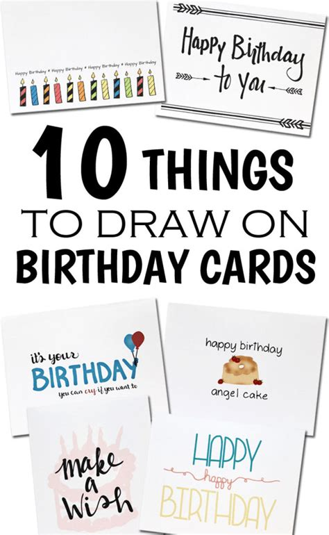Things To Put In A Birthday Card How To Draw A Birthday Card Gangcraft Net