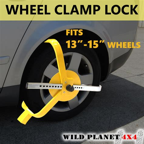 Lamcord Safety Boot Rv 001 wheel cl lock 13 15 heavy duty anti theft safety trailer auto vehicle ca ebay