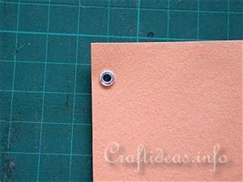 Eyelets For Paper Crafts - craft on how to use eyelets on cards
