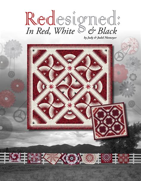 black and white quilt pattern book redesigned in red white black a book by judy and