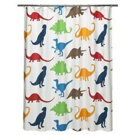 dino curtains dinosaur shower curtain harrison pinterest bathroom