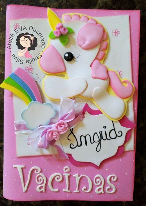 cuadernos decorados de unicornio con foami capa cadeneta de vacina unic 243 rnio cuadernos decorados