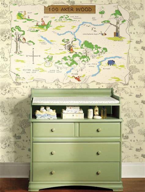 Wall Sticker Outlet Decorate Your Nursery With Winnie The Winnie The Pooh Changing Table