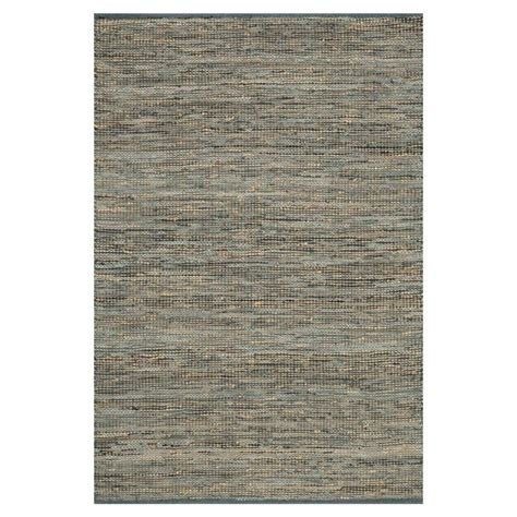grey leather rug uzo coastal grey jute leather woven rug 3 6x5 6 kathy kuo home