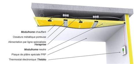 plafond rayonnant hydraulique le plancher pl 226 tre rayonnant pour se chauffer habitatpresto