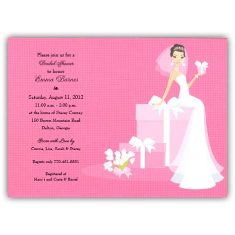 Blank Wedding Invites Pink Paper by Bridal Shower Invitations Bridal Shower Invitations Blank