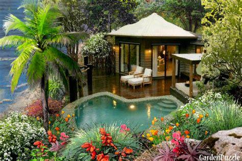 Small Patio Home Plans Private Beach House Gardenpuzzle Online Garden