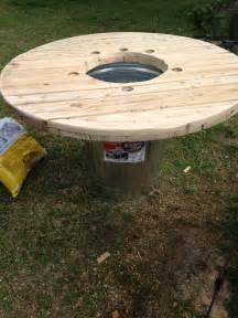 Crawfish Tables by With Just A Few Modifications A Metal Trash Can And One