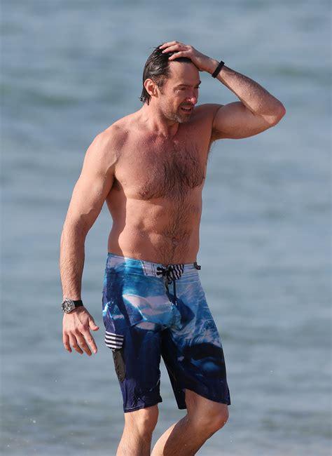 hugh jackman bench celebs nearly naked on the beach sizzling pics revealed