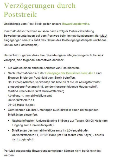 Bewerbung Xenos Rosenheim Auswirkungen Des Poststreiks Auf Die Studienplatz Bewerbungen Rosenheim