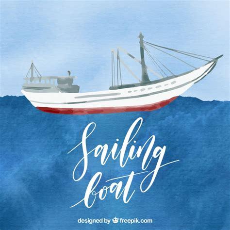 sailing boat watercolour watercolor sailing boat vector free download