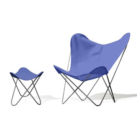 butterfly chair with ottoman hardoy butterfly chair outdoor batyline 174 blue with ottoman